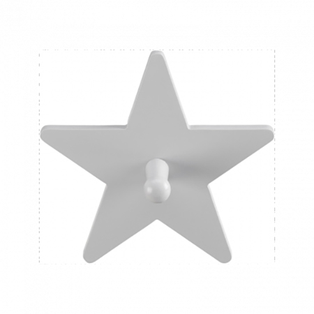 Picture of Kids Concept® Single Hook Star Grey