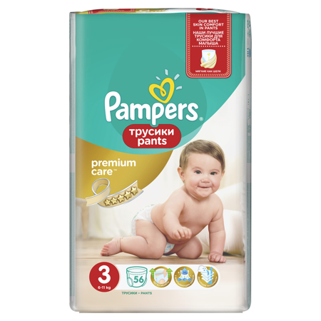 Picture of Pampers® Pants Diapers Premium Size 3 (6-11 kg ) 56 Pcs.
