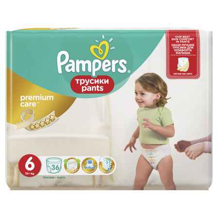 Picture of Pampers® Pants Diapers Premium Size 6 (15kg+ ) 36 Pcs.