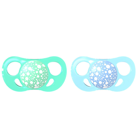 Picture of Twistshake 2x Pacifier Pastel Blue&green (0+/6+) - 6+ M