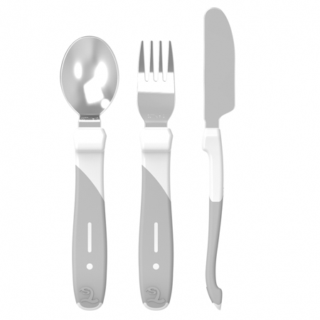 Picture of Twistshake Learn Cutlery Stainless Steel (12+M) - White