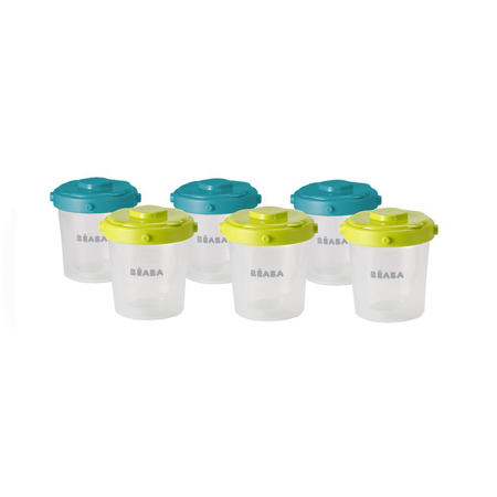 Picture of Beaba®  Clip Containers 6x200ml 6-Set Blue/Neon