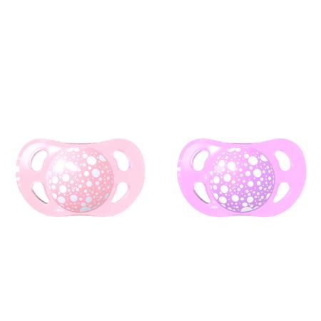 Picture of Twistshake 2x Pacifier Pastel Pink&Purple  (0+/6+) - 0-6 M