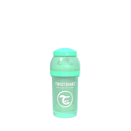 Picture of Twistshake Anti-Colic Bottle 180ml (0+M) - Pastel Green