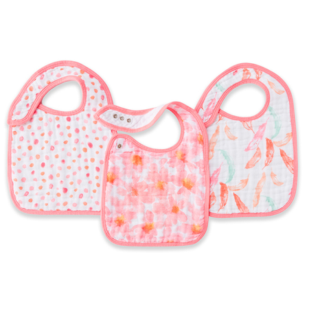 Picture of Aden+Anais® Classic Snap Bib 3-Pack Petal Blooms
