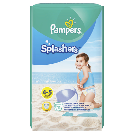 Picture of Pampers® Water Pants Diapers Size 4 11Pcs.