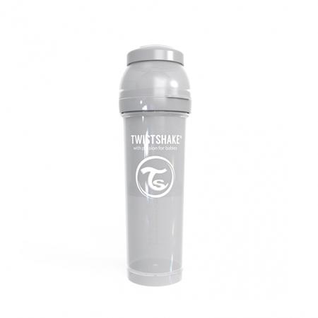 Picture of Twistshake Anti-Colic Bottle 330ml (4+M) - Pastel Grey