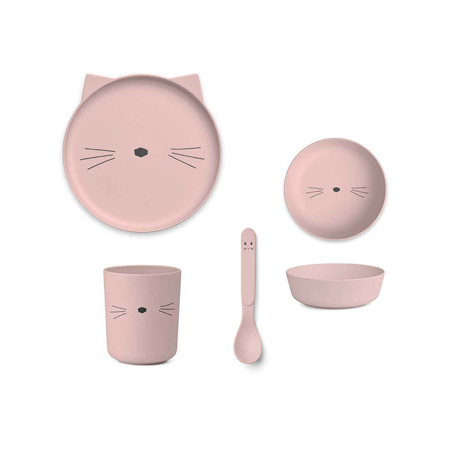 Picture of Liewood® Bamboo Tableware Box Set - Cat Rose