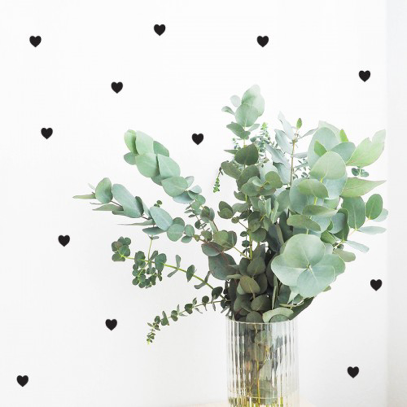 Picture of Pick Art Design® Wall Sticker Black Hearts
