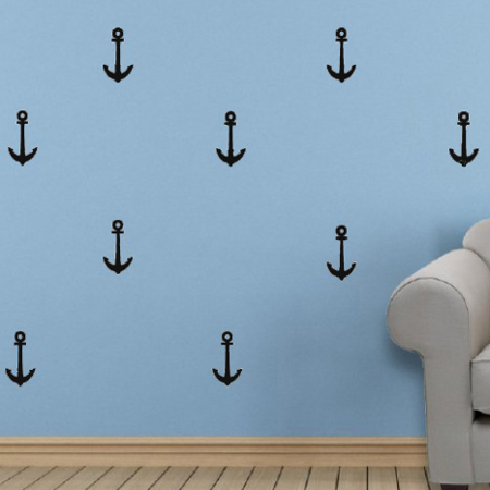 Picture of Pick Art Design® Wall Sticker Black Anchors
