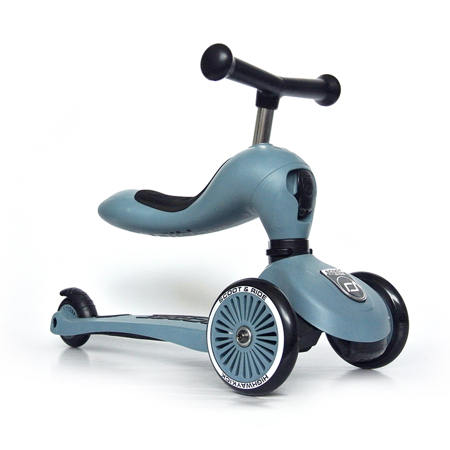 Immagine di Scoot & Ride® Bici senza pedali e monopattino 2 in 1 Highwaykick 1 Steel