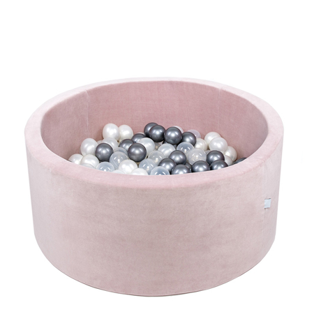 Picture of Misioo® Ball Pit With 200 Balls Light Pink Velvet Collection
