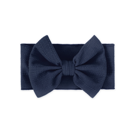 Picture of Wide Elastic Bowtie Headband Blue