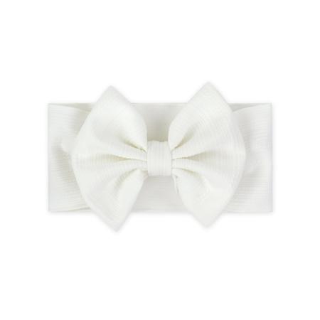 Picture of Wide Elastic Bowtie Headband White