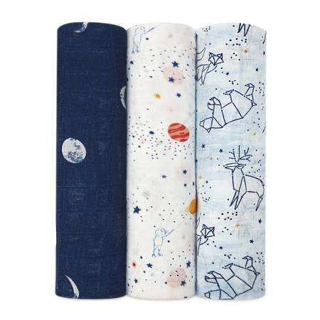 Picture of Aden+Anais® Silky Soft Swaddles 3-pack Stargaze 120x120