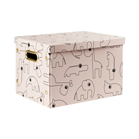 Picture of Done By Deer Folding Storage Box Contour - Powder