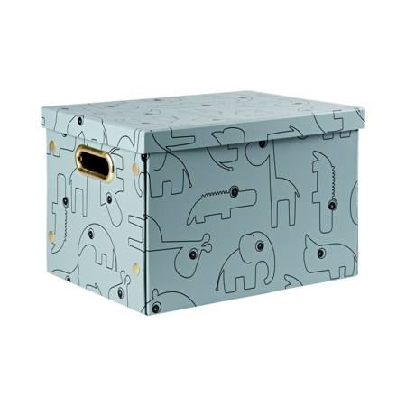 Picture of Done By Deer Folding Storage Box Contour - Blue