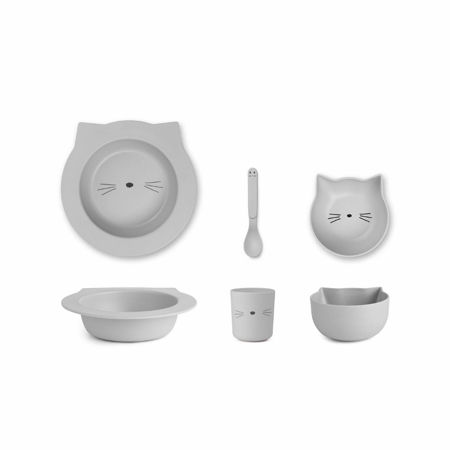 Picture of Liewood® Bamboo Baby Set - Cat Dumbo Grey