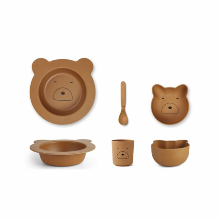 Picture of Liewood® Bamboo Baby Set - Mr Bear Mustard