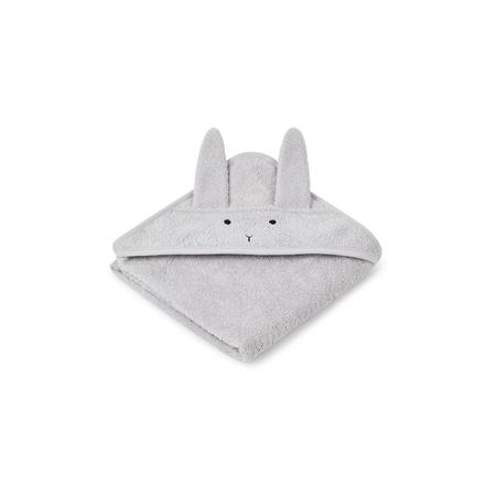 Immagine di Liewood® Asciugamano con cappuccio Rabbit Grey Baby 70x70