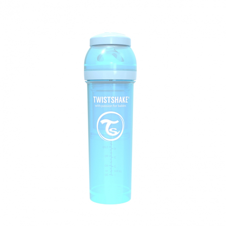 Picture of Twistshake Anti-Colic Bottle 330ml (4+M) - Pastel Blue