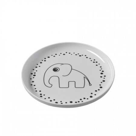 Picture of Done By Deer Yummy Plate Happy Dots - Grey