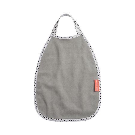 Picture of Done by Deer® Pullover Terry Bib Happy Dots Grey