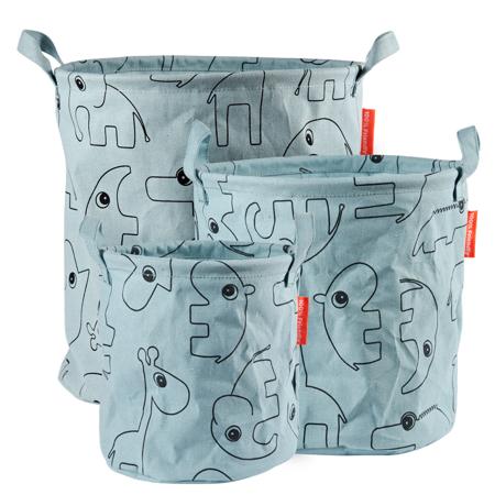 Immagine di Done by Deer® Set di contenitori in tessuto Contour Blue