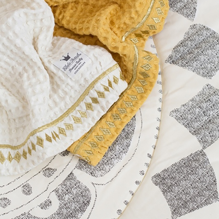 Picture of Elodie Details® Waffle Blanket Gilded Powder