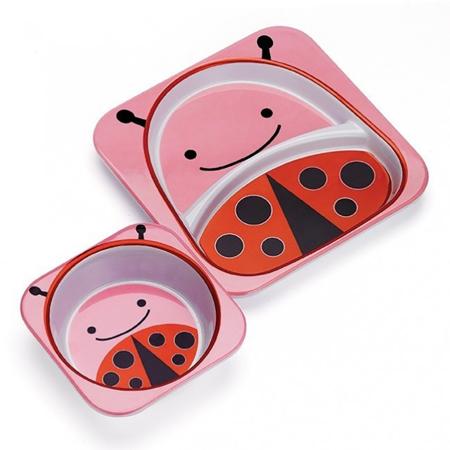 Skip Hop® Melamine Plate&Bowl Set Ladybug