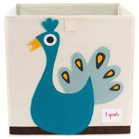 3Sprouts® Toy Storage Box Peacock
