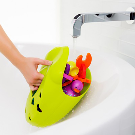 Picture of Boon® Bath Toy Scoop, Drain And Storage Frog Pod