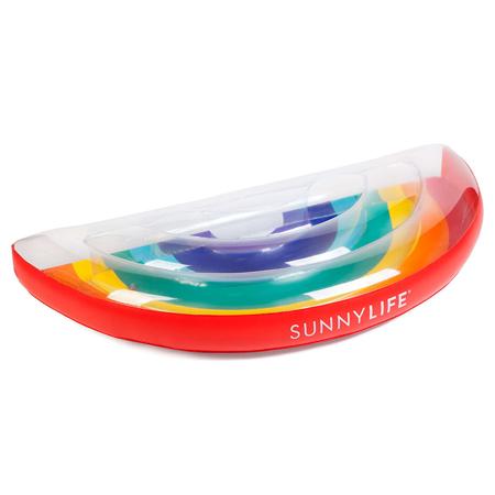 SunnyLife® Luxe Lie-On Float Rainbow