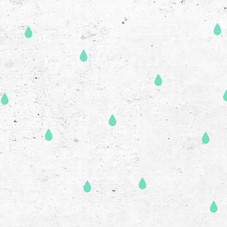 Picture of Pick Art Design® Wall Sticker Raindrops Mint