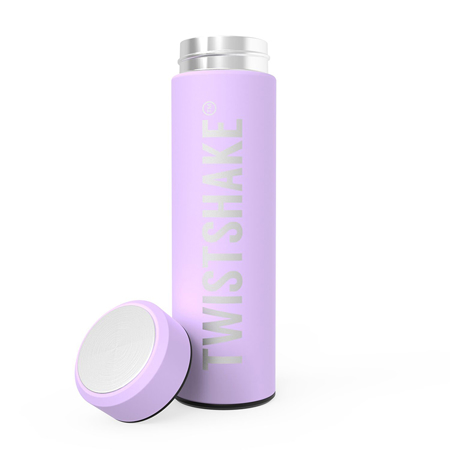 Picture of Twistshake Hot Or Cold Insulated Bottle 420ml - Pastel Purple
