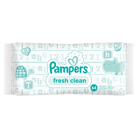 Immagine di Pampers® Salviettine umidificate Baby Fresh Clean promo pack 6x64 pz.