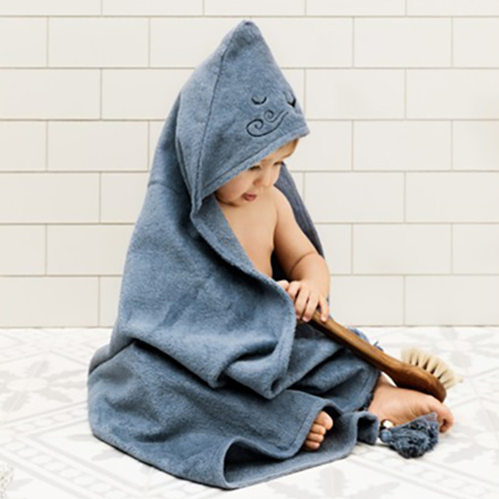 Elodie Details® Hooded Towel Tender Blue (80x80)