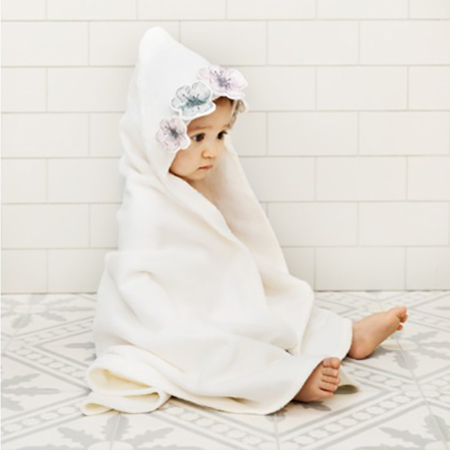 Picture of Elodie Details® Hooded Towel Embedding Bloom (80x80)