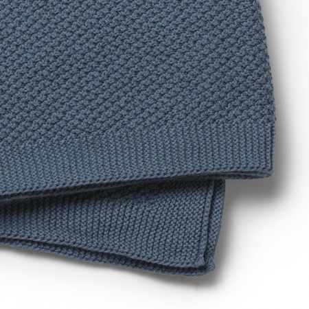 Picture of Elodie Details® Moss-Knitted Blanket Tender Blue