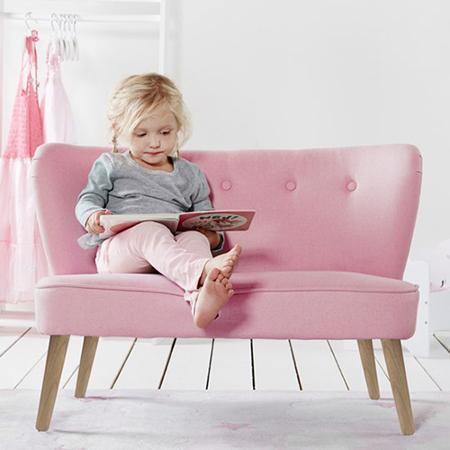 Slika Kids Concept® Otroška Zofa Pink
