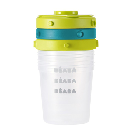 Beaba®  Clip Containers 6x200ml 6-Set Blue/Neon