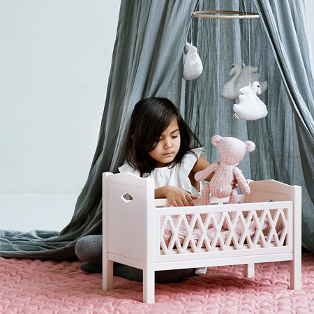 Picture of CamCam® Harlequin Doll's Bed White
