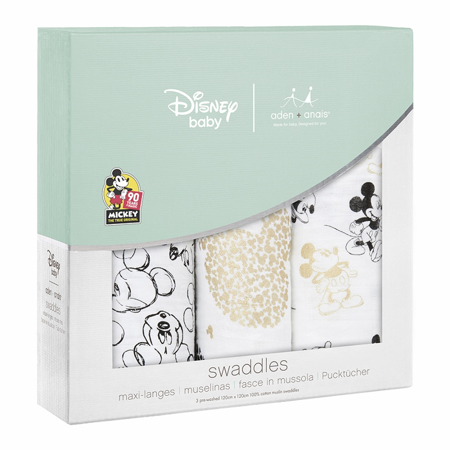 Picture of Aden+Anais® Classic Swaddle Set 3-Pack Disney Mickey's 90th 120x120