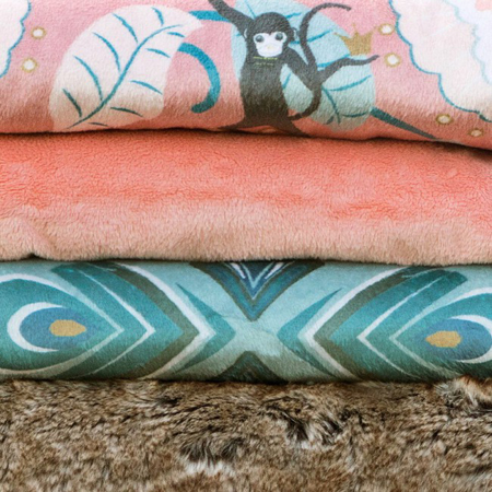 Elodie Details® Pearl Velvet Blanket Faded Rose