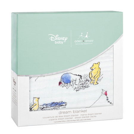 Picture of Aden+Anais® Classic Dream Blanket Winnie The Pooh (120x120)