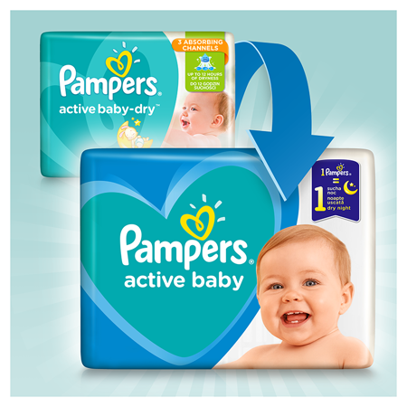 Picture of Pampers® Diapers Active Baby Dry Size 5 (11-16kg) 150 Pcs.