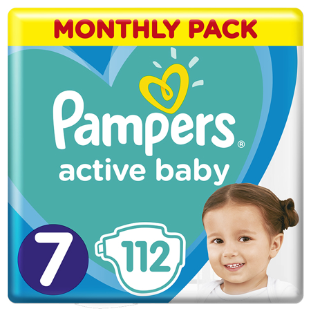 Pampers® Diapers Active Baby Dry Size 7 (15+kg) 112 Pcs.
