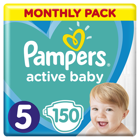 Pampers® Diapers Active Baby Dry Size 5 (11-16kg) 150 Pcs.