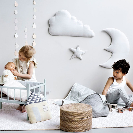 Picture of CamCam® Wall Decoration Moon, Cloud, Star Blossom Pink
