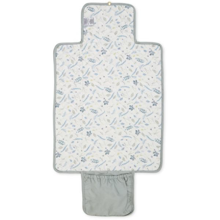 CamCam® Quilted Changing Mat Pressed Leaves Blue